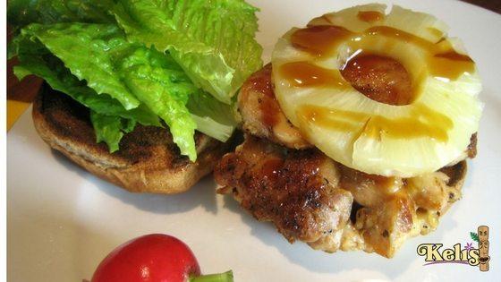 Teriyaki Chicken and Pineapple Sandwich - Keli's Sauce